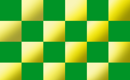 Checker pattern green and gold