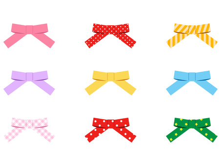 Simple ribbon of colorful color