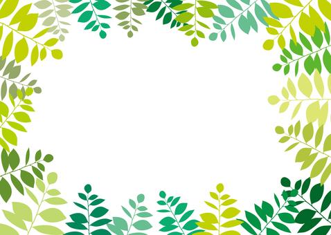 무료 일러스트 무료 소재 녹색 그린 프레임