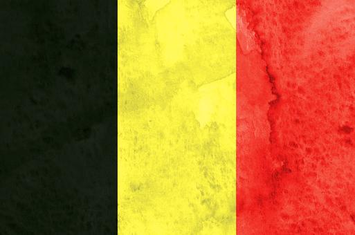 Flag watercolor Belgium