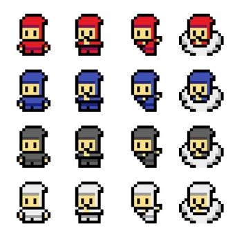 Pixel art Ninja 1 16x16