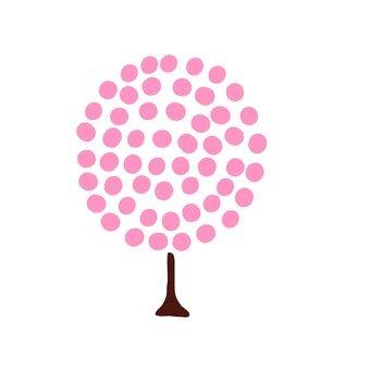 Scandinavian trees (pink, round)