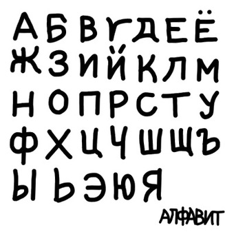 Alphabet capital letters (Russian)