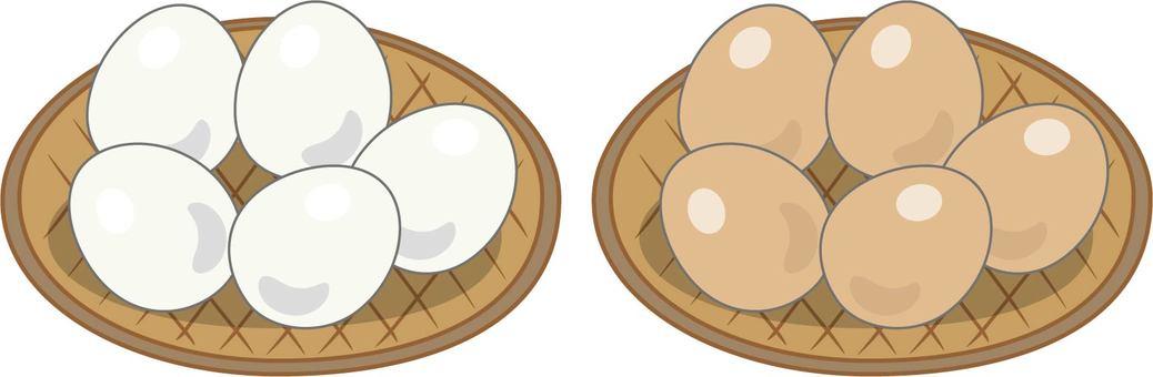 Egg white balls red ball