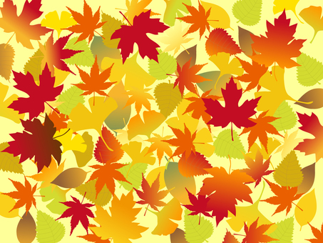 Japanese style material Autumn leaves Background Fallen leaves