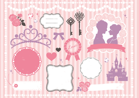 Wedding & Princess stamp