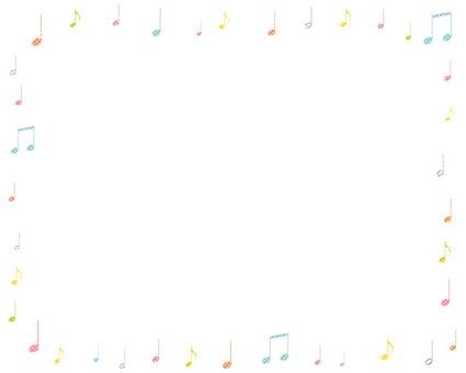 Musical note frame 3