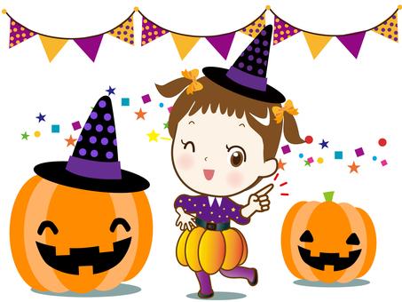 Halloween (pointing girl)
