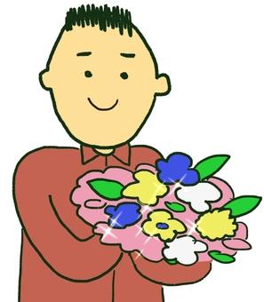 Men with a bouquet 6