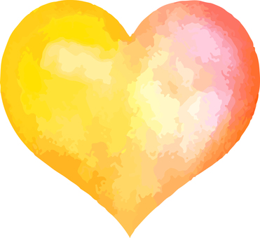 Heart _ watercolor _ 05 _ orange