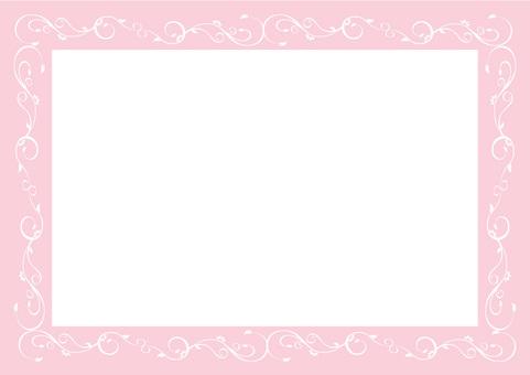 Elegant Uduri Border Frame - Pink