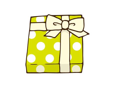 Polka dot present box
