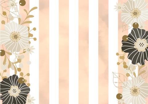大人な花飾りのおしゃれなカード フレーム