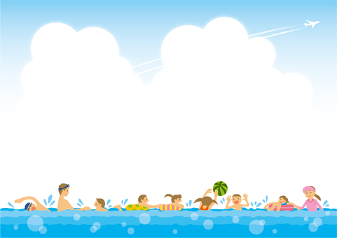 Background (family bathing)