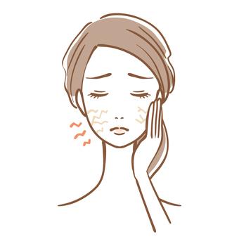 건성 피부 여성 피부 트러블