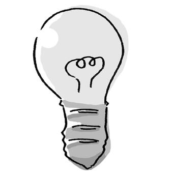 Light bulb (black and white)