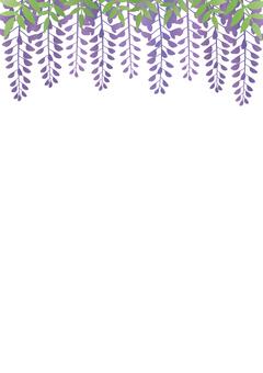 등나무 꽃 프레임 등나무 꽃 (세로)
