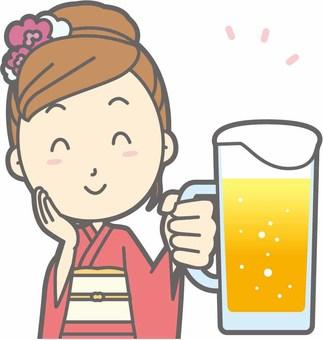 Kimono female a - beer smile - bust