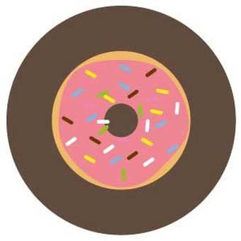 Strawberry donuts