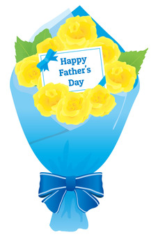 Father's Day Bouquet of yellow roses 01