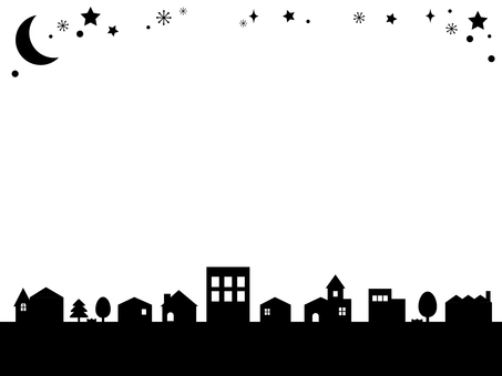 Silhouette of the town