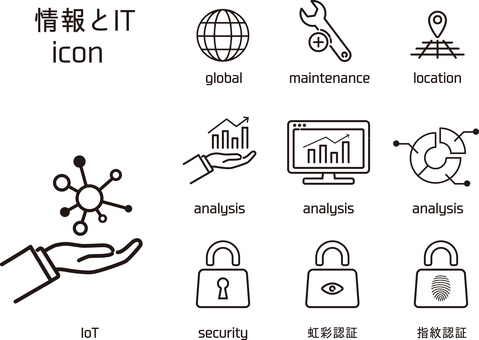 Information and IT icon set