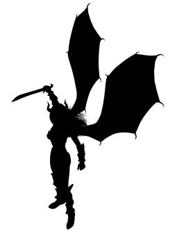 Woman devil silhouette