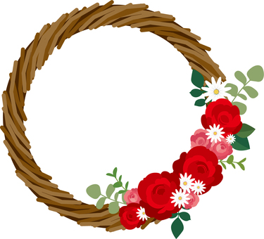 Illustration 2 of red rose wreath