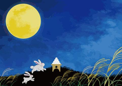 가을의 보름달