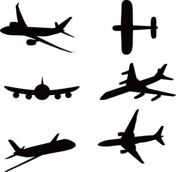 Airplane, silhouette
