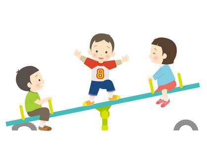 Kids playing with seesaw 2