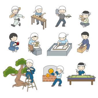 Many craftsmen