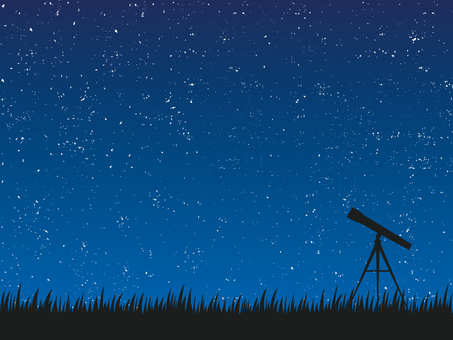 Starry sky background material