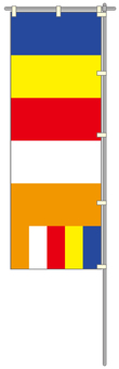 仏旗 国際仏旗 のぼり