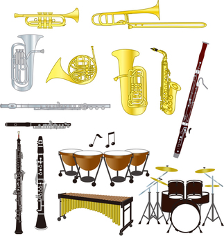 All kinds of instruments Wind instrument