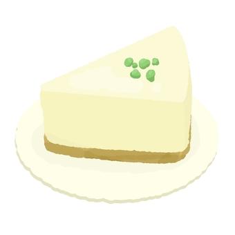 Pistachio covered rare cheese cake 2