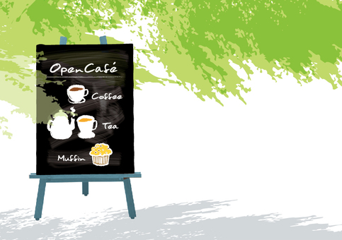 Open Cafe Illustration
