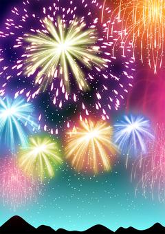 Fireworks background / vertical