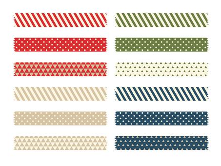 Christmas pattern masking tape