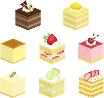 Square cake set