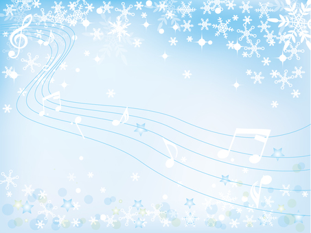 Snow crystal _ winter background _ new 4 notes