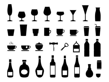 Glass set silhouette