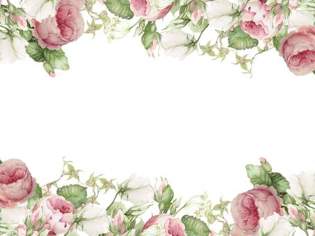 Flower frame 215 - Classical red rose flower frame