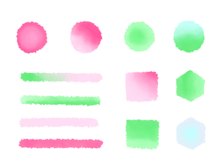 Spring color watercolor brush illustration material