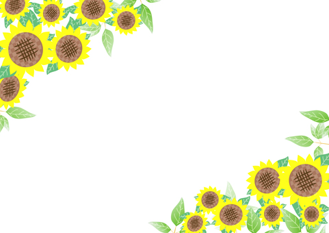 Green and sunflower frame 3