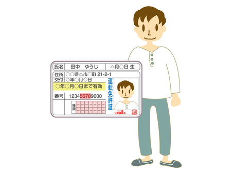Driver's license male person