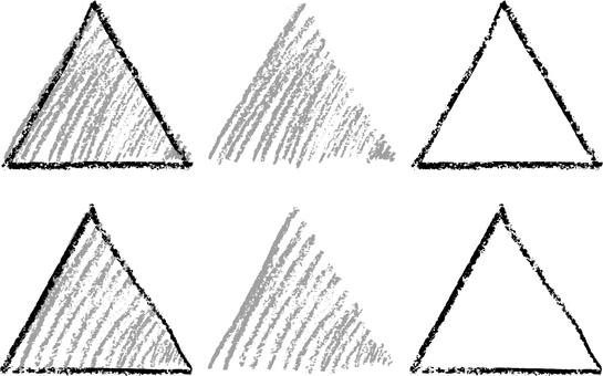Crayon triangle a