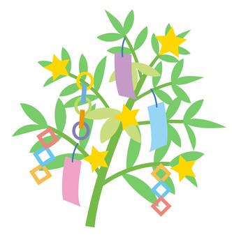 Tanabata 笹 summer illustration