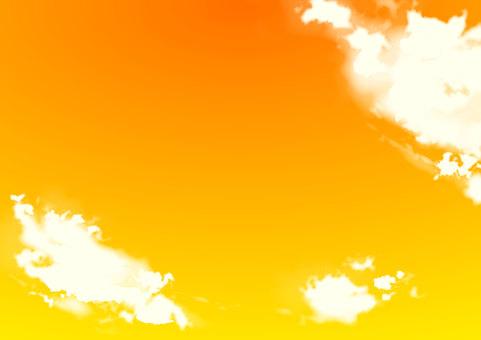 Autumn sky Sky Sunset cloud background material