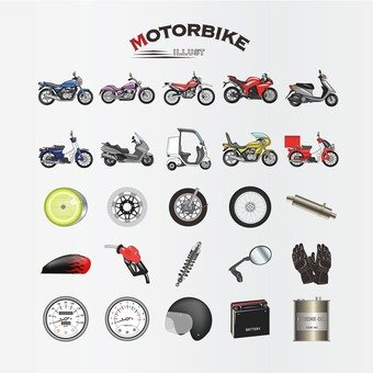 Motor bike illustration